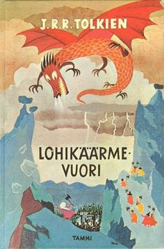 Lohikäärmevuori (Finnish translation of The Hobbit by J. Tolkien, Illustration by Tove Jansson. Book Cover Art, Book Cover Design, Book Art, Tove Jansson, J. R. R. Tolkien, Buch Design, Vintage Book Covers, Beautiful Book Covers, Children's Book Illustration