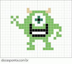 Mike Monsters Inc perler bead pattern