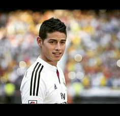 James on the pitch on the day he signed for real madrid