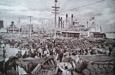 The port of New Orleans in the early 1920s