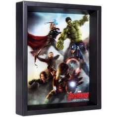 Any movie lover will appreciate our The Avengers Age of Ultron Holographic Shadow. You'll feel like the Avengers have come from the big screen to your walls. Marvel Room, Comic Room, Ad Home, Avengers Age, Frames On Wall, Framed Wall, Age Of Ultron, Wall Decor, Wall Art