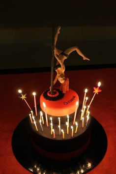 pole dance cake