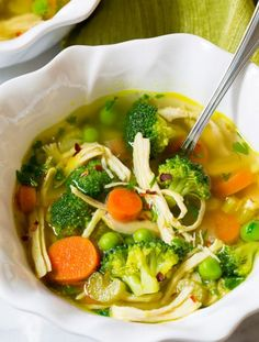 Amazing Chicken Detox Soup Recipe & Cleanse | ASpicyPerspective.com (Paleo, Gluten Free, Dairy Free)