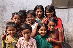 Children from the Mirpur slum of Dhaka, Bangladesh.