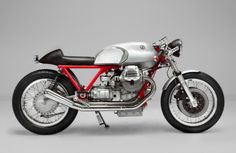 Side View of teffific Moto Guzzi Cafe Racers by Kaffe Maschine