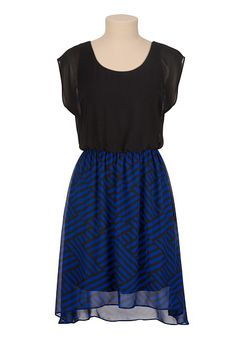 High-low Geo Print Chiffon Dress (original price, $39) available at #Maurices