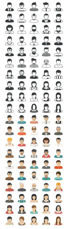 People Icons by eucalyp on @creativemarket