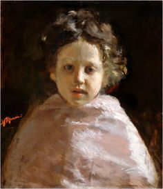 Portrait of a Child (circa 1874), Antonio Mancini