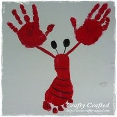 lobster foot/hand print - cute cute cute idea by C@rol