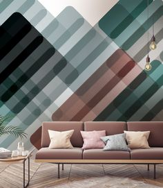 Colorful and Abstract Patterned Wallcoverings by Leigh Bagley x Newmor - Design Milk