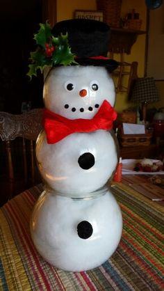 Fish bowl snowman