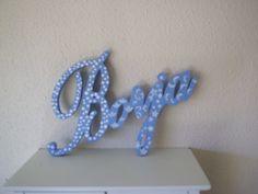 letrero infantil borja azul estrellas
