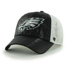 a1664f0e267889 Women's Philadelphia Eagles '47 Black Dazzle Mesh Clean Up Adjustable Hat