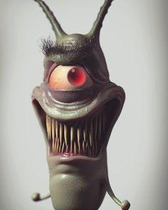 posted by wilhughes3d via instagram :   Sheldon J Plankton  #plankton #spongebob #spongebobsquarepants #nickelodeon #cartoon #evil #creepy #ocean #cyclops #zbrush #keyshot #3d #villain #krabbypatty  spongebob,spongebobsquarepants,creepy,cartoon,evil,ocean,plankton,villain,zbrush,keyshot,krabbypatty,3d,cyclops,nickelodeon