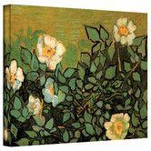 Found it at Wayfair - Vincent Van Gogh ''Wild Roses'' Canvas Art