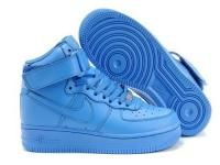 blue high top air force ones