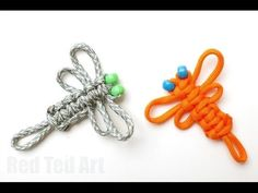 More fun crafts with paracords - learn to how to make this cute dragon fly craft from paracords or thick string. Another macrame knotting technique using the Cobra knot. Paracord Dolls mentioned in the video are here .... How, Easy, Cord,