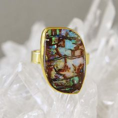 The Kalled Gallery — Boulder Opal Ring