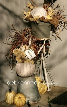 Raid the Garden Shed for Fall Porch Decor! Ok my goal this year.... make from what I have...yeah!