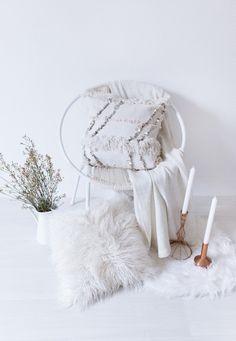 Moroccan Wedding Blanket Pillow Handira Lumbar by LoomAndField