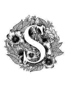 Custom Initial Monogram Art Print on Etsy by Minipress