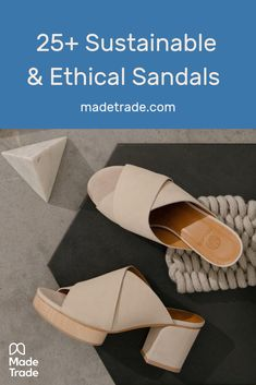 Sustainable and ethical sandals available on Made Trade. These fair trade, eco-friendly flat and heeled sandals will be your new favorite shoes for spring and summer. Ethical Shoes, Ethical Clothing, Fair Trade Jewelry, Ethical Fashion Brands, Fair Trade Fashion, Weekly Outfits, Summer Sandals, Heeled Sandals, Fashion Pictures
