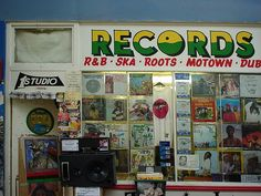 Record shop, Granville Arcade (now Brixton Village).
