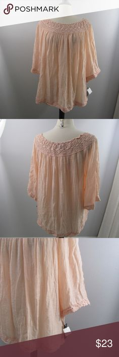 72fde34a30a Zac   Rachel blouse Zac   Rachel BoHo Style blouse New with tags size 2X  blush