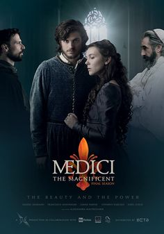 """Medici"" Plot: A political family drama set in Florence in the early fifteenth century. Cosimo de Medici finds himself at the helm of his banking dynasty when his father, Giovanni, dies suddenly. Daniel Sharman, Sarah Parish, Good Girls Revolt, Medici Masters Of Florence, Tv Series 2016, Once Upon A Time Funny, Streaming Tv Shows, Foto Poster, The Originals"