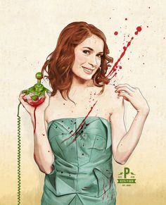 Slaughterhouse Starlets  Felicia Day Print by thePisforPenis, $40.00
