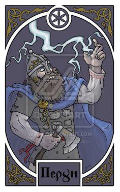 Slavic deities - Perun by Silni.deviantart.com    Perun was the Slavic god of thunder, storms and light.