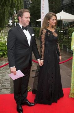 Christopher O'Neill, Swedish Princess Madeleine and Swedish Queen Silvia attends the Dinner in aid of the World Childhood Foundation, Berns, Stockholm, 2014-Sept. 8,