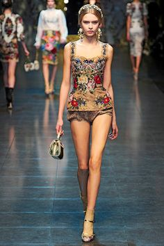 Josephine Skriver for Dolce & Gabbana Fall 2012 Ready-to-Wear