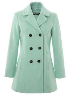 Mint wool coat - 50% off! http://rstyle.me/n/vvhxdnyg6
