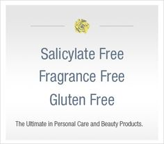 Make up free of Salicylates, Fragrances, and Gluten
