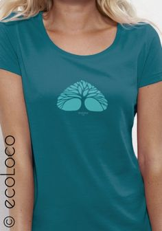 62638021ce39d T shirt bio Arbre impression France mode ethique femme vegan randonnée air  poumon