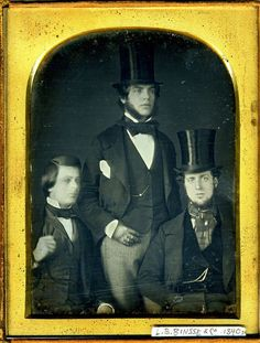 Here is a sample daguerreotype. These were cameras invited during the Romantic…: