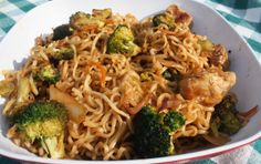 Best of Long Island and Central Florida: Pork & Ramen Stir Fry.  One of my favorites. Only thing I do is to use Chicken. Perfect week night recipe. Carrots can also be added. Its quick and easy and the taste is great ! One of my favorites.