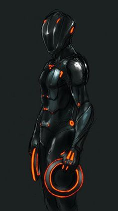 Rinzler can& you see he is tron look at the four dots on his chest people and if you don& get it watch the 1982 original tron - buy online watches for mens, big watches, mens titanium watches *ad Source # Tron Legacy, Arte Tron, Tron Art, Robot Concept Art, Armor Concept, Fantasy Character Design, Character Art, Character Concept, Mode Cyberpunk