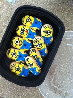 Despicable me minions on Milano cookies