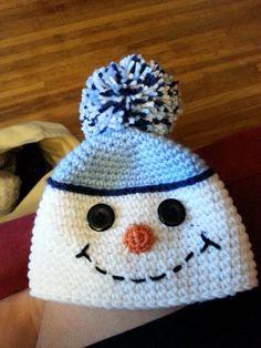 Gilet Crochet, Crochet Baby Beanie, Crochet Kids Hats, Crochet Beanie Pattern, Crochet Square Patterns, Crochet Crafts, Crochet Projects, Crochet Christmas Hats, Christmas Crochet Patterns