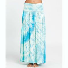 ed3d0ad09db5 tie dyed skirts · Heart Of Mine Maxi Skirt | Billabong US Long Blue Skirts,  White Maxi Skirts,