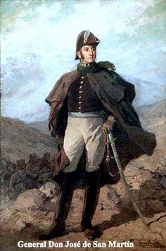 Jose de San Martin era un general que lucho por la indepencia de suramerica.
