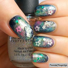 Galaxies for day 19 of the #31DC2014 | Painted Fingertips