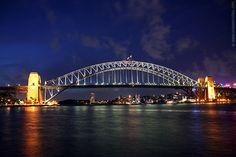 Harbour Bridge at night, Sydney
