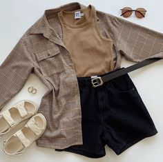 Girls Fashion Clothes, Teen Fashion Outfits, Retro Outfits, Mode Outfits, Cute Casual Outfits, Stylish Outfits, Vintage Outfits, Girl Outfits, Mode Pastel