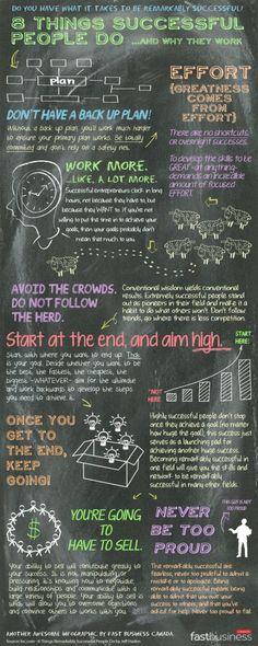 [Infographic] Dingen die succesvolle mensen doen » Door: Anette van Haren - 42bis