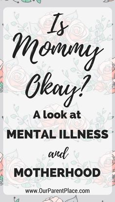 Mental illness is widespread and extremely serious. But there is a group of people largely ignored that suffer from depression, anxiety, and a slew of other disorders: mothers. Moms are plagued by mental illnesses just as much as any other group and today I'm going to talk about it!