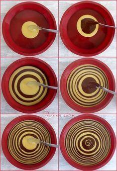 Zebra cake how to Cream Horn Molds, Cream Horns, Cake Zebré, Cupcake Cakes, Baby Cakes, Mini Cakes, Cupcakes, Bakery Recipes, Dessert Recipes