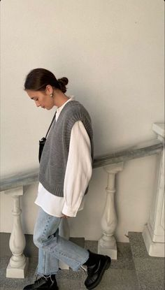 Adrette Outfits, Retro Outfits, Cute Casual Outfits, Fall Outfits, Vintage Outfits, Fashion Outfits, Simple Outfits, Mode Für Teenies, Mode Ootd